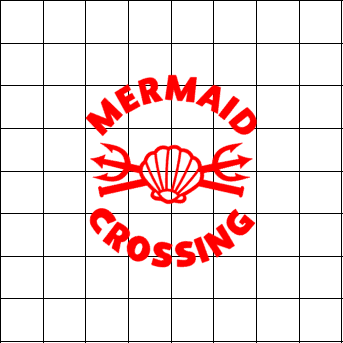 Fast Lane Graphix: Mermaid Crossing Sticker,White, stickers, decals, vinyl, custom, car, love, automotive, cheap, cool, Graphics, decal, nice