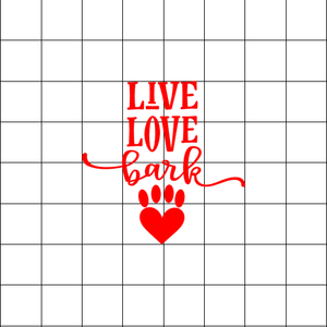 Fast Lane Graphix: Live Love Bark Sticker,White, stickers, decals, vinyl, custom, car, love, automotive, cheap, cool, Graphics, decal, nice