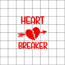 Fast Lane Graphix: Heart Breaker Sticker,White,stickers, decals, vinyl, custom, car, love, automotive, cheap, cool, Graphics, decal