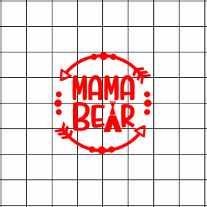 Fast Lane Graphix: Mama Bear Sticker,Matte White, stickers, decals, vinyl, custom, car, love, automotive, cheap, cool, Graphics, decal, nice