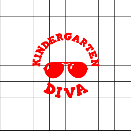 Fast Lane Graphix: Kindergarten Diva Sticker,White, stickers, decals, vinyl, custom, car, love, automotive, cheap, cool, Graphics, decal, nice