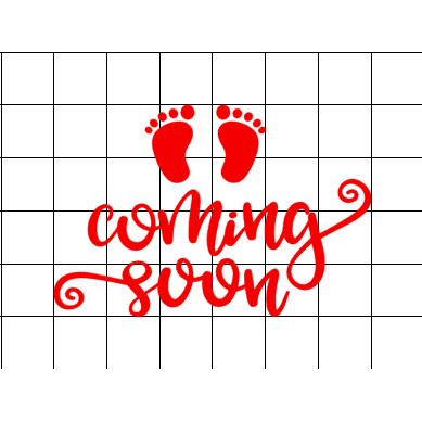 Fast Lane Graphix: Baby Coming Soon Sticker,White,stickers, decals, vinyl, custom, car, love, automotive, cheap, cool, Graphics, decal