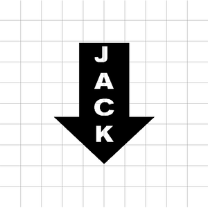 Fast Lane Graphix: Jack Sticker,White,stickers, decals, vinyl, custom, car, love, automotive, cheap, cool, Graphics, decal