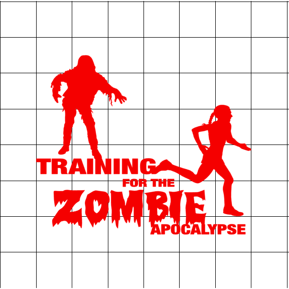 Fast Lane Graphix: Training For The Zombie Apocalypse Women Sticker,White,stickers, decals, vinyl, custom, car, love, automotive, cheap, cool, Graphics, decal