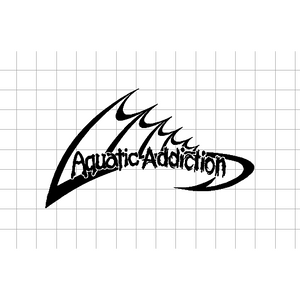 Fast Lane Graphix: Aquatic Addiction Sticker,White,stickers, decals, vinyl, custom, car, love, automotive, cheap, cool, Graphics, decal