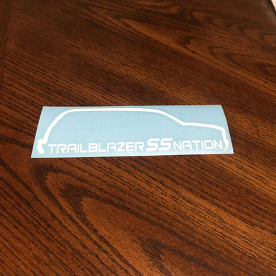Fast Lane Graphix: Trailblazer SS Nation TBSS Sticker,White, stickers, decals, vinyl, custom, car, love, automotive, cheap, cool, Graphics, decal, nice