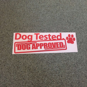 Fast Lane Graphix: Dog Tested Dog Approved Sticker,Red, stickers, decals, vinyl, custom, car, love, automotive, cheap, cool, Graphics, decal, nice