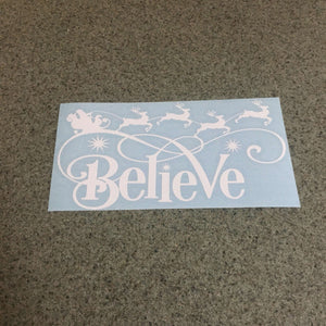 Fast Lane Graphix: Believe In Santa Sticker,White, stickers, decals, vinyl, custom, car, love, automotive, cheap, cool, Graphics, decal, nice