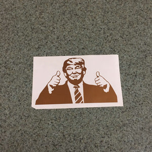 Fast Lane Graphix: Donald Trump Thumbs Up Meme Sticker,Copper Metallic, stickers, decals, vinyl, custom, car, love, automotive, cheap, cool, Graphics, decal, nice