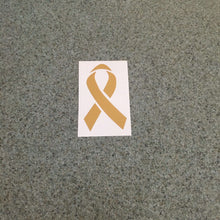 Fast Lane Graphix: Cancer Ribbon Sticker,Gold Metallic, stickers, decals, vinyl, custom, car, love, automotive, cheap, cool, Graphics, decal, nice