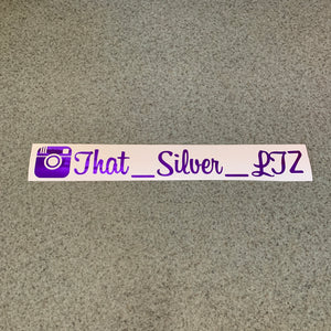 "Fast Lane Graphix: Custom Instagram Sticker ""your text here"",Purple Chrome, stickers, decals, vinyl, custom, car, love, automotive, cheap, cool, Graphics, decal, nice"