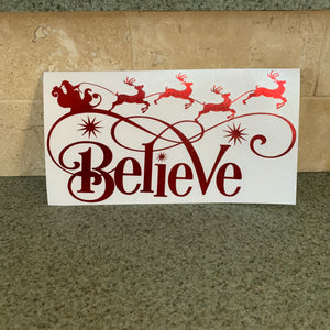 Fast Lane Graphix: Believe In Santa Sticker,Red Chrome, stickers, decals, vinyl, custom, car, love, automotive, cheap, cool, Graphics, decal, nice