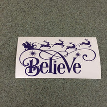 Fast Lane Graphix: Believe In Santa Sticker,Purple, stickers, decals, vinyl, custom, car, love, automotive, cheap, cool, Graphics, decal, nice