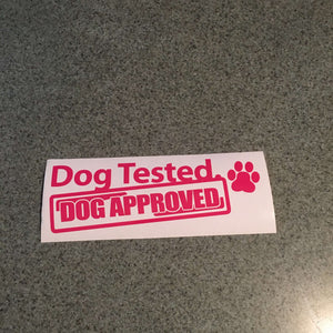 Fast Lane Graphix: Dog Tested Dog Approved Sticker,Pink, stickers, decals, vinyl, custom, car, love, automotive, cheap, cool, Graphics, decal, nice