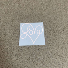 Fast Lane Graphix: Love Heart V1 Sticker,White, stickers, decals, vinyl, custom, car, love, automotive, cheap, cool, Graphics, decal, nice