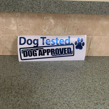 Fast Lane Graphix: Dog Tested Dog Approved Sticker,Blue Chrome, stickers, decals, vinyl, custom, car, love, automotive, cheap, cool, Graphics, decal, nice
