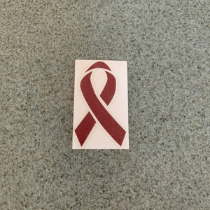 Fast Lane Graphix: Cancer Ribbon Sticker,Burgundy, stickers, decals, vinyl, custom, car, love, automotive, cheap, cool, Graphics, decal, nice