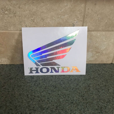 Fast Lane Graphix: Honda Wing Logo Sticker,Holographic Silver Chrome, stickers, decals, vinyl, custom, car, love, automotive, cheap, cool, Graphics, decal, nice