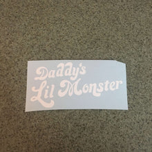 Fast Lane Graphix: Daddy's Lil Monster V2 Sticker,White, stickers, decals, vinyl, custom, car, love, automotive, cheap, cool, Graphics, decal, nice