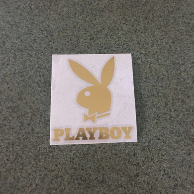 Fast Lane Graphix: Playboy Logo Sticker,Gold Chrome, stickers, decals, vinyl, custom, car, love, automotive, cheap, cool, Graphics, decal, nice