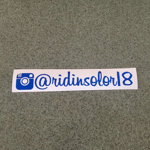 "Fast Lane Graphix: Custom Instagram Sticker ""your text here"",Blue Chrome, stickers, decals, vinyl, custom, car, love, automotive, cheap, cool, Graphics, decal, nice"
