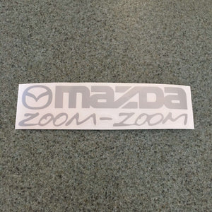 Fast Lane Graphix: Mazda Zoom Zoom Sticker,Silver, stickers, decals, vinyl, custom, car, love, automotive, cheap, cool, Graphics, decal, nice