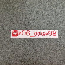 "Fast Lane Graphix: Custom Instagram Sticker ""your text here"",Red, stickers, decals, vinyl, custom, car, love, automotive, cheap, cool, Graphics, decal, nice"