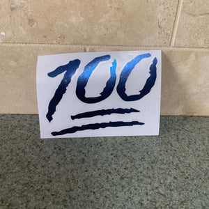 Fast Lane Graphix: 100 Emoji Sticker,Blue Chrome, stickers, decals, vinyl, custom, car, love, automotive, cheap, cool, Graphics, decal, nice