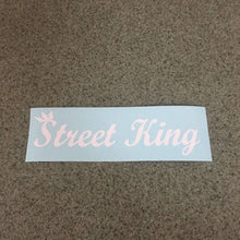 Fast Lane Graphix: Street King Sticker,Matte White, stickers, decals, vinyl, custom, car, love, automotive, cheap, cool, Graphics, decal, nice