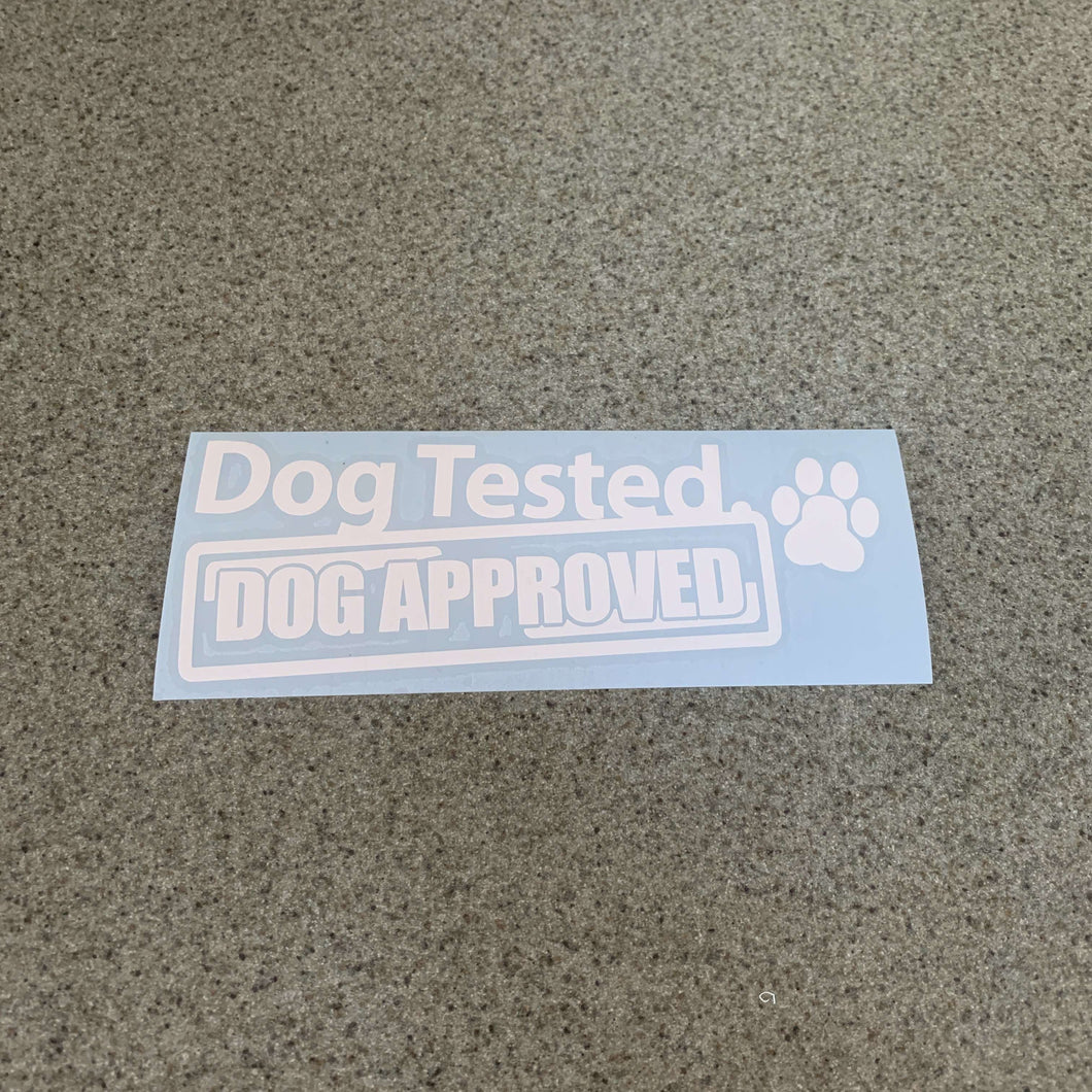 Fast Lane Graphix: Dog Tested Dog Approved Sticker,White, stickers, decals, vinyl, custom, car, love, automotive, cheap, cool, Graphics, decal, nice