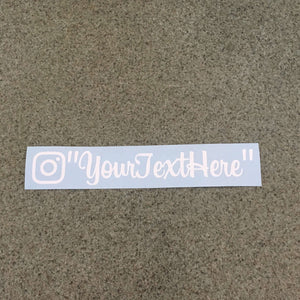 "Fast Lane Graphix: Custom Instagram V2 Sticker ""your text here"",White, stickers, decals, vinyl, custom, car, love, automotive, cheap, cool, Graphics, decal, nice"