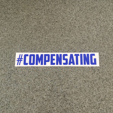 Fast Lane Graphix: #Compensating Sticker,Brilliant Blue, stickers, decals, vinyl, custom, car, love, automotive, cheap, cool, Graphics, decal, nice