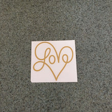 Fast Lane Graphix: Love Heart V1 Sticker,Gold Metallic, stickers, decals, vinyl, custom, car, love, automotive, cheap, cool, Graphics, decal, nice