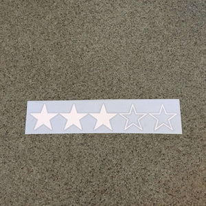 Fast Lane Graphix: 3 Star WANTED Level GTA Style Sticker,White, stickers, decals, vinyl, custom, car, love, automotive, cheap, cool, Graphics, decal, nice