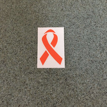 Fast Lane Graphix: Cancer Ribbon Sticker,Orange, stickers, decals, vinyl, custom, car, love, automotive, cheap, cool, Graphics, decal, nice