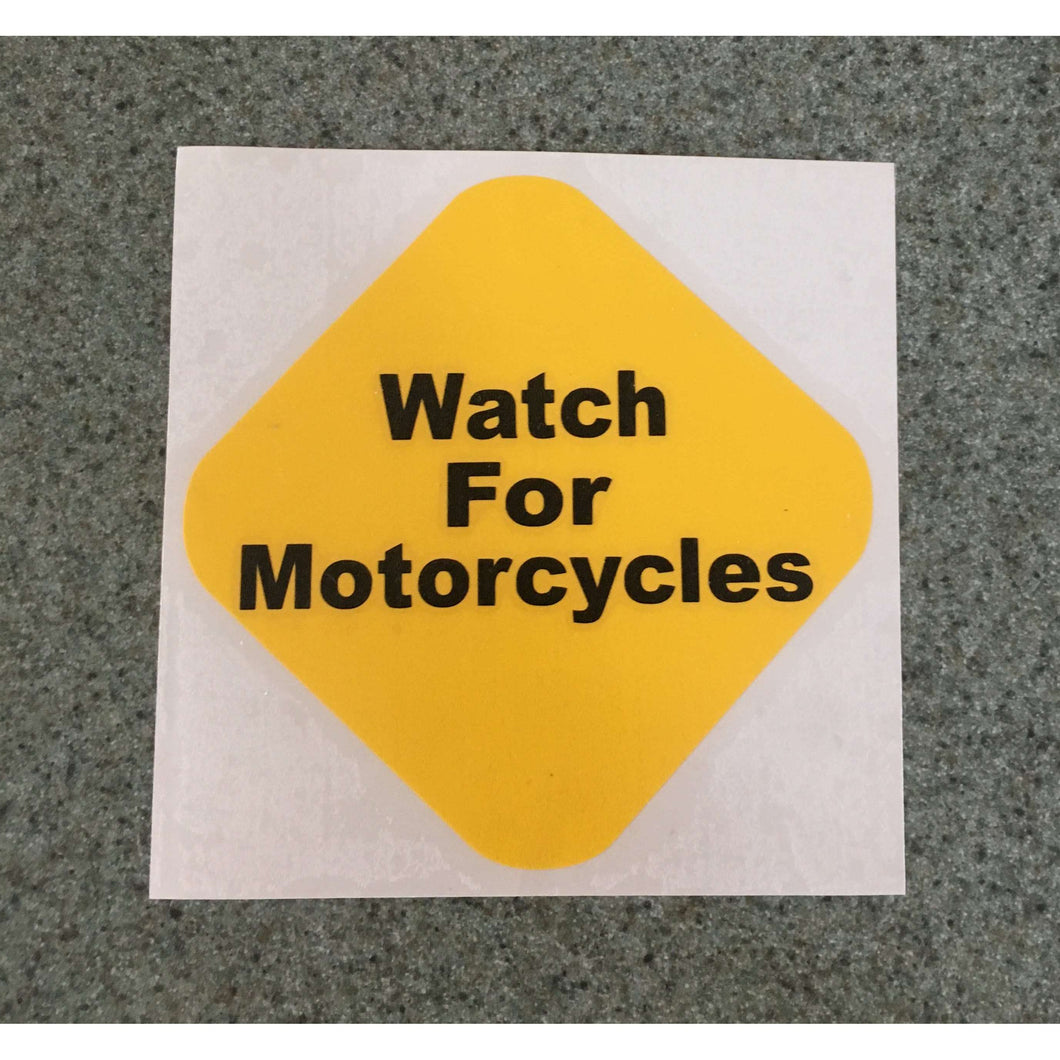Fast Lane Graphix: Watch For Motorcycles Sticker (Multi Color),[variant_title], stickers, decals, vinyl, custom, car, love, automotive, cheap, cool, Graphics, decal, nice