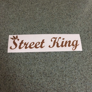 Fast Lane Graphix: Street King Sticker,Copper Metallic, stickers, decals, vinyl, custom, car, love, automotive, cheap, cool, Graphics, decal, nice