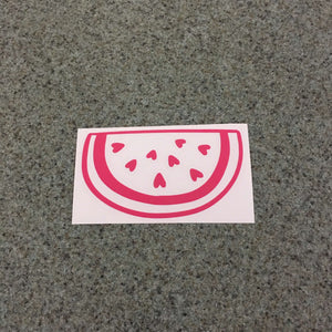 Fast Lane Graphix: Watermelon Slice With Hearts Sticker,Pink, stickers, decals, vinyl, custom, car, love, automotive, cheap, cool, Graphics, decal, nice
