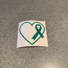 Fast Lane Graphix: Heart With Cancer Ribbon Sticker,Green, stickers, decals, vinyl, custom, car, love, automotive, cheap, cool, Graphics, decal, nice