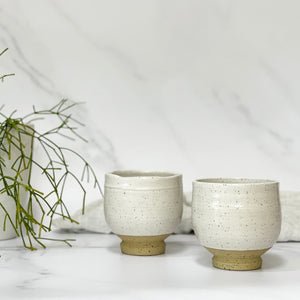 White Speckled Cups by Jino Jeong