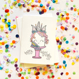 Happy Birthday - Unicorn Card