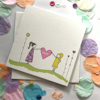 Mum Card - Love heart