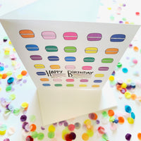 Happy Birthday - Macaroons Card