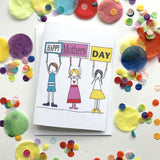 Mum Card- Mothers Day- Kids with Signs