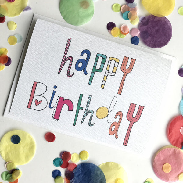 Happy Birthday Typography Card