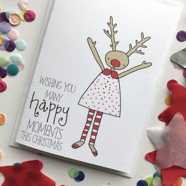 Christmas Card- Reindeer Girl