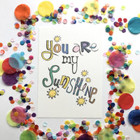 Illustration Print - You Are My Sunshine