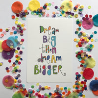 CLEARANCE SALE - Dream Big Print