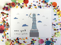 Illustration Print - New York Is Always A Good Idea