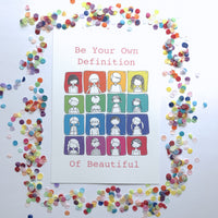 Illustration Print - Be Your Own Definition Of Beautiful